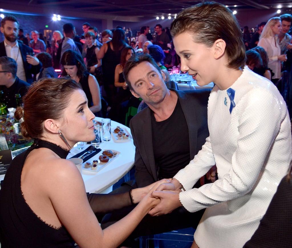 Emma Watson, Hugh Jackman, and Millie Bobby Brown