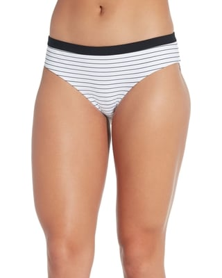 CALIA Women's Wide Banded Printed Bikini Bottoms