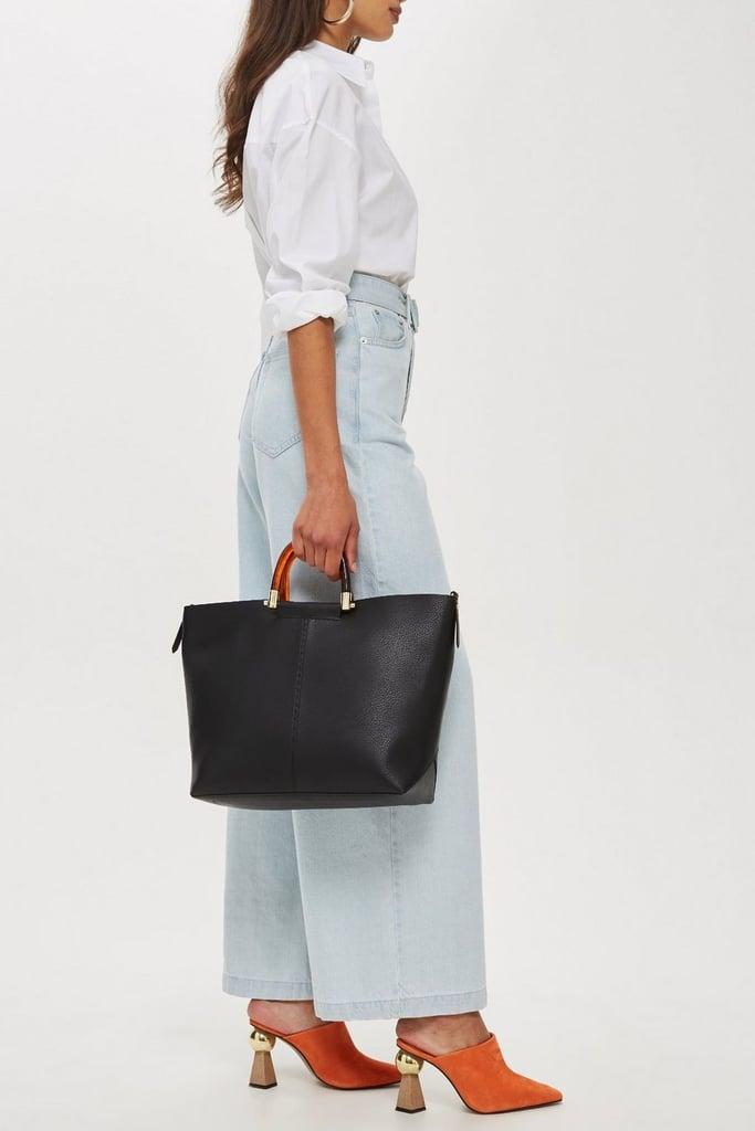 Topshop Sallie Tortoiseshell Handle Shoulder Bag