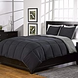 Supersoft Extra Warm Grey and Black Reversible Comforter
