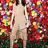 Nicole Trunfio wore Ferragamo at Ferragamo's launch of L'Icona in New York. Source: Matteo Prandoni/BFAnyc.com