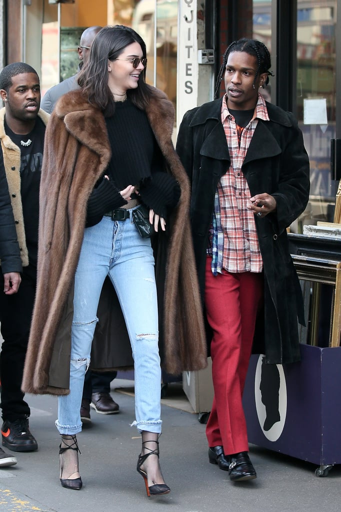 Are they or aren't they? Kendall Jenner and A$AP Rocky put those dating rumors into high gear when they were spotted shopping together at a flea market in Paris on Sunday. The model, who is in town for Paris Fashion Week, was all smiles as they walked around the City of Love together. While the rapper donned a black jacket, plaid shirt, and red pants, Kendall kept warm in a fur coat, black sweater, and faded jeans. Even though the two have made multiple appearances together, they're still keeping pretty mum about their relationship status. Either way, they definitely look like they're having fun together.      Related:                                                                                                           Kendall Jenner's Hottest Bikini Pictures