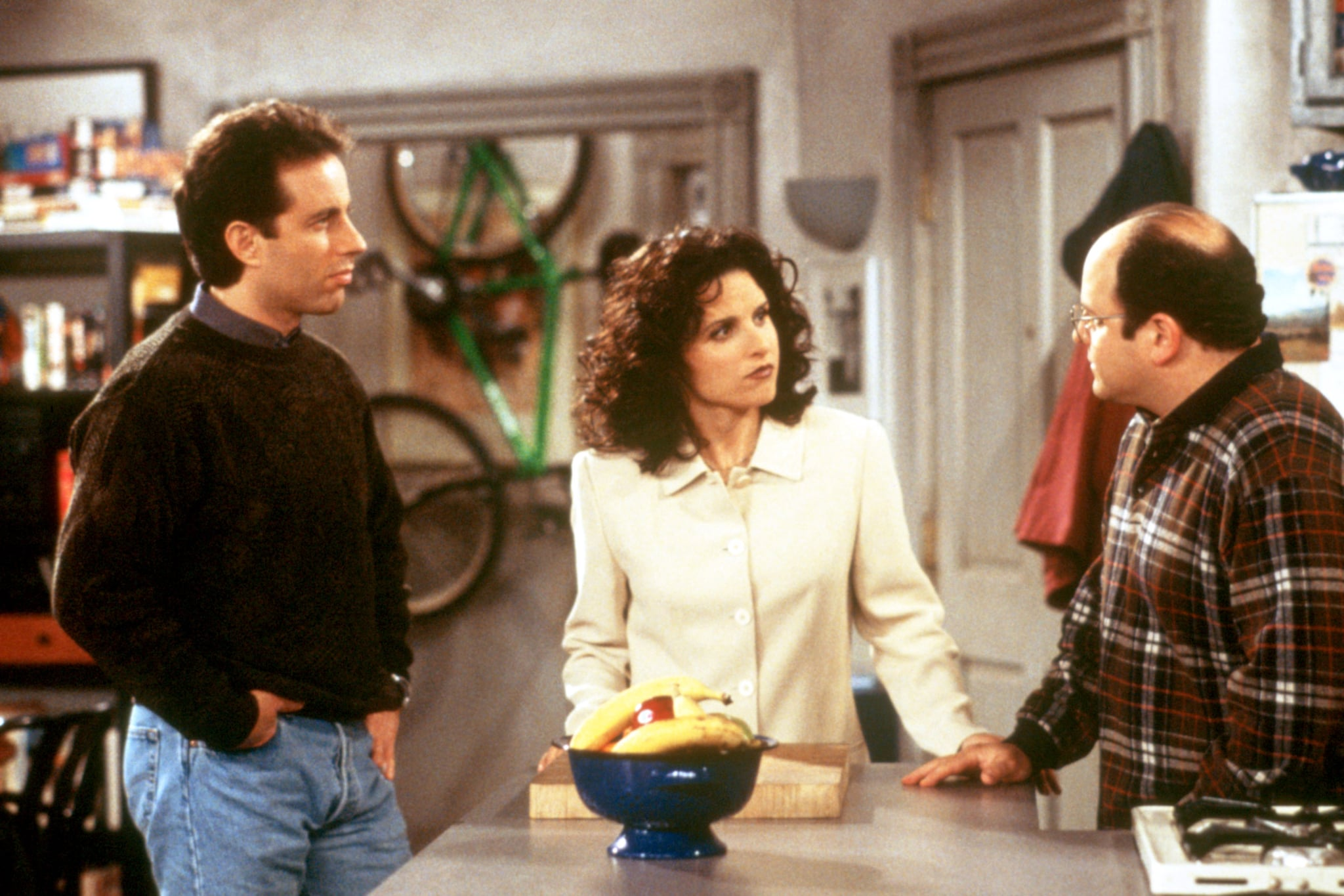SEINFELD, Jerry Seinfeld, Julia Louis-Dreyfus, Jason Alexander, Season 9, 1990 - 1998. (c) Columbia TriStar Television/ Courtesy: Everett Collection.