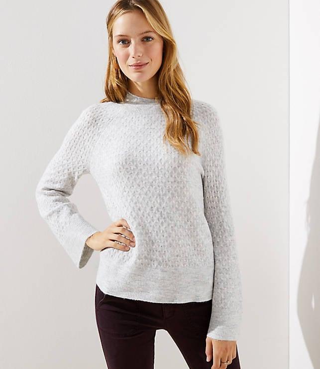 Stitchy Flare Sleeve Sweater