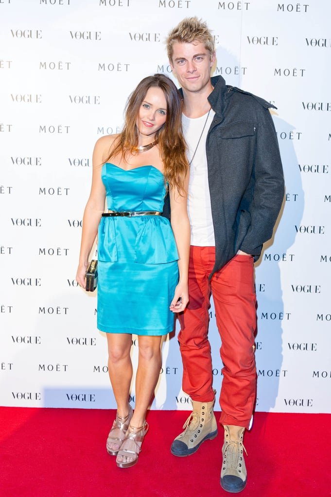 Rebecca Breeds and Luke Mitchell attended the Vogue event.