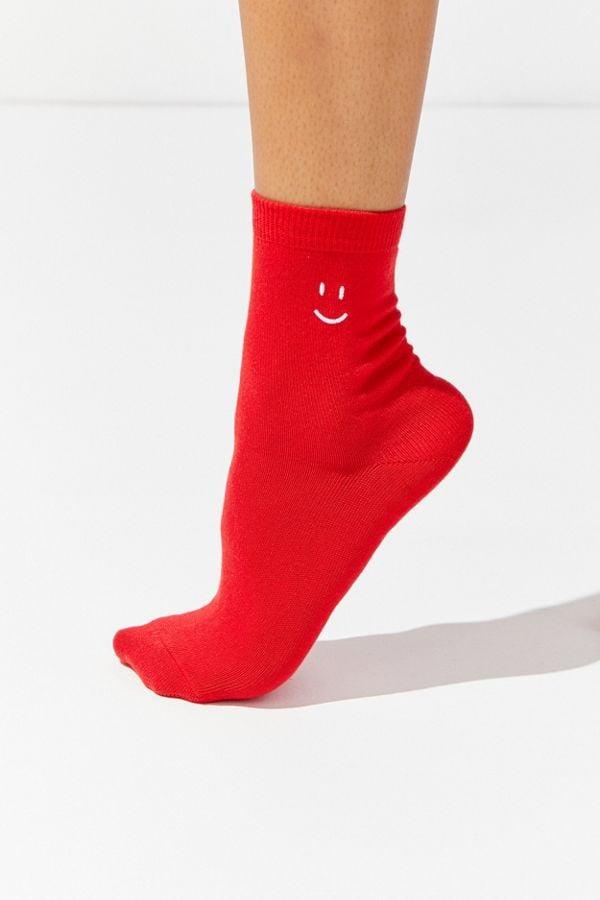 UO Smiley Crew Socks