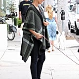 Needed even more proof that Kate can make anything look sexy? She was out in a wool poncho and clogs and still managed to look stunning.