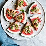 Charred Watermelon Cheese Wedges With Mint
