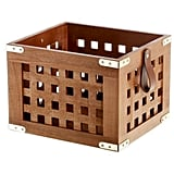 Lattice Wood Storage Crate