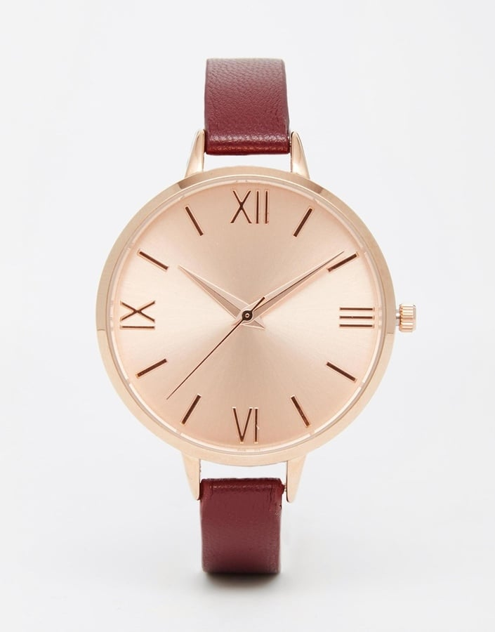 ASOS Rose Gold Sunray Dial Clean Watch (£18)