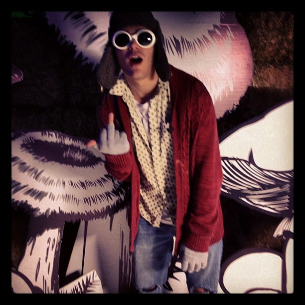 Chris Zylka dove into the '90s to be Kurt Cobain for Halloween. Source: Instagram user chriszylka
