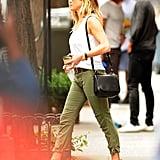 Jennifer Aniston's Burberry Wedges in New York June 2016