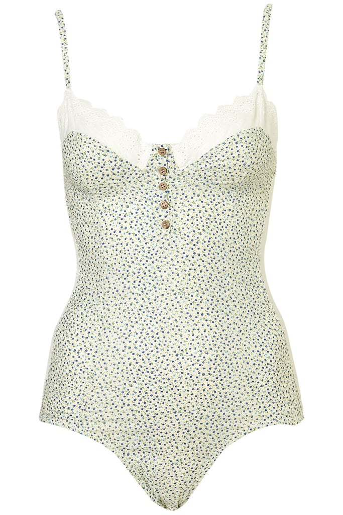 This bodysuit could double as a top with high-waisted jeans.  Topshop Ditsy Floral Bodysuit ($50)