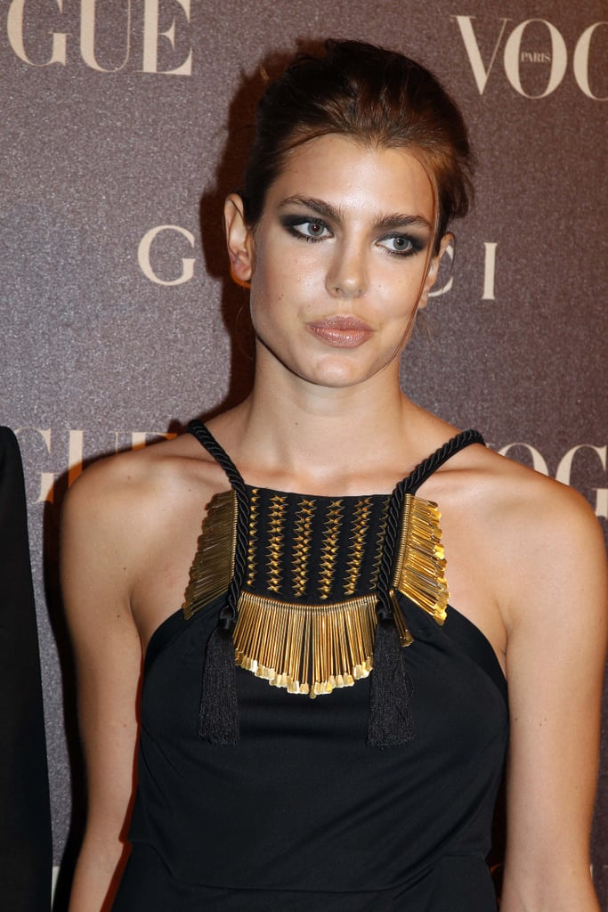 Charlotte looked glam at a Paris Fashion Week event in January 2011.
