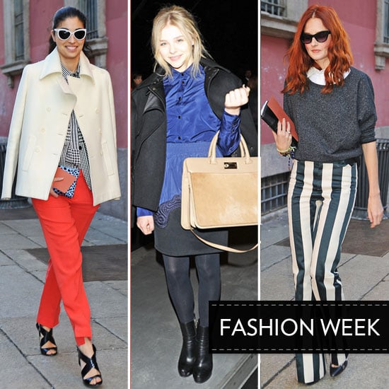 Celebrity Beauty Looks from the Front Row at A/W 2012 Milan Fashion Week Chloe Moretz, Anna Dello Russo and More!