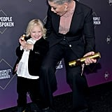 Willow Hart Crashed Pink's Photoshoot to Feed Her a Pretzel