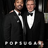 Pictured: Michael B. Jordan and Harrison Ford