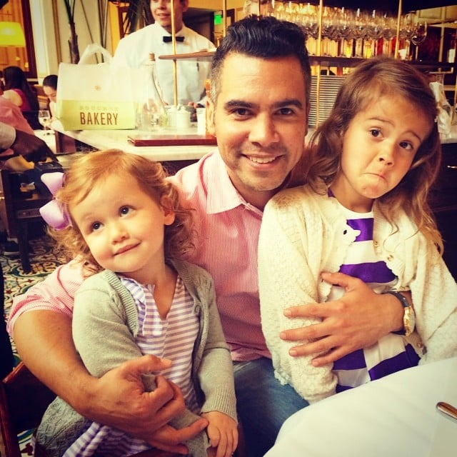 "Cash Warren couldn't quite get a smile out of his girls on Father's Day, but that didn't bother him. He wrote, ""Just smile in one pic with dad...please. Today is like my second birthday...please. Ok forget it...apparently you don't want dessert. Lol #DadLifeFollowing."" Source: Instagram user cash_warren"