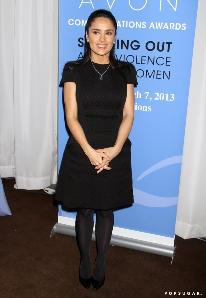 Salma Hayek Continues to Rep Women's Rights at the Avon Awards