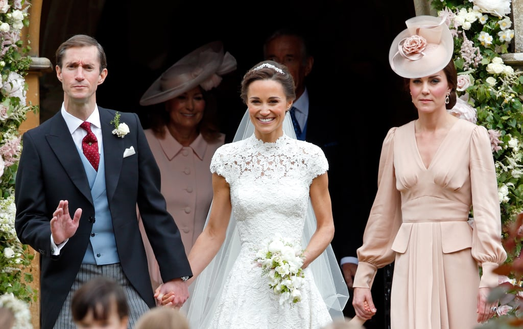 Kate Middleton stood by her sister Pippa Middleton's side for her wedding day.