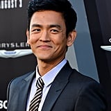 John Cho posed at the Total Recall premiere in LA.