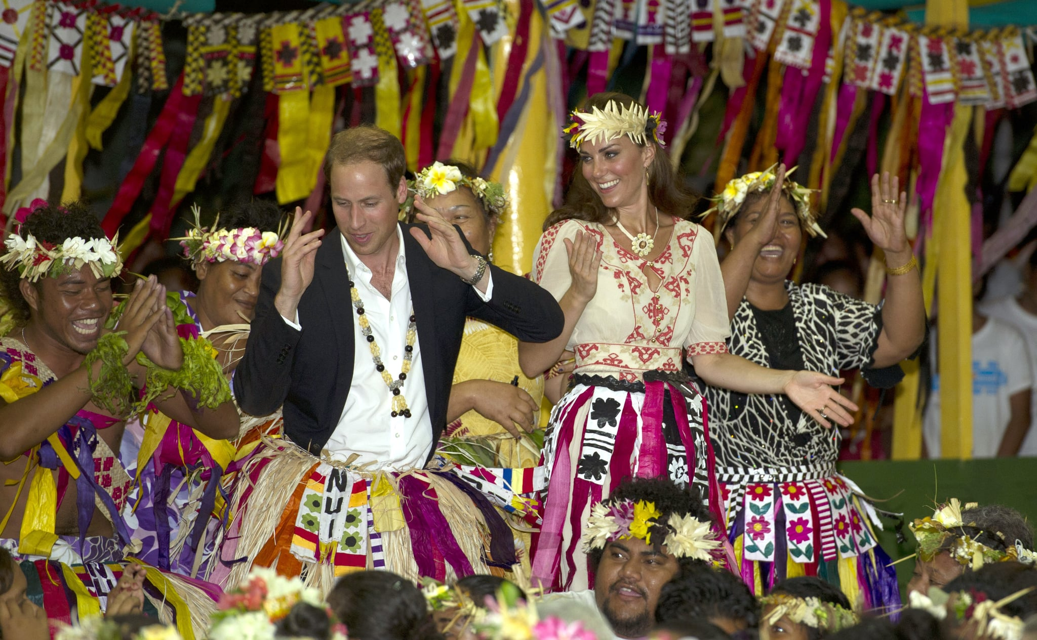 Prince William and Kate got into the fun on day eight of their 2012 tour of the Asia Pacific.
