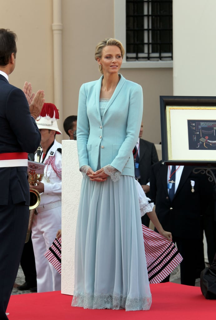 Princess Charlene of Monaco | Royal Brides Who Wore Blue | POPSUGAR ...