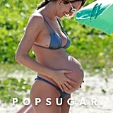 Candice Swanepoel Pregnant Bikini Pictures in Brazil 2018