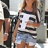 Jennifer Aniston continued working on Squirrels to the Nuts in NYC on Monday.