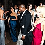 A star-studded crowd, including Chrissy Teigen, John Legend, Kim Kardashian, and Zoë Kravitz, gathered.