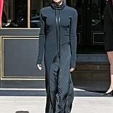 Victoria Beckham Wore Her Hoodie Dress Out in Paris