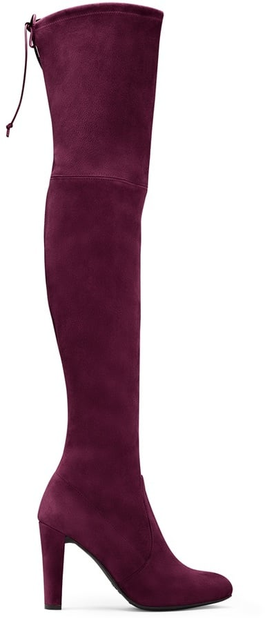 Stuart Weitzman The Highland Boot in Wine ($798)