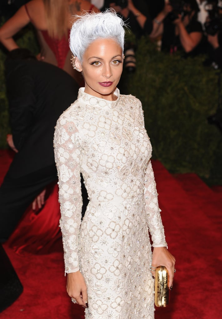 She debuted a high-fashion look for the punk-themed Met Gala in NYC in May 2013.