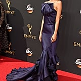 Emily Looked So Stunning in Her Blue Mermaid Dress