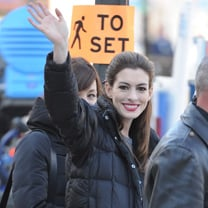 Tom Hardy, Christian Bale, and Anne Hathaway on Set Pictures