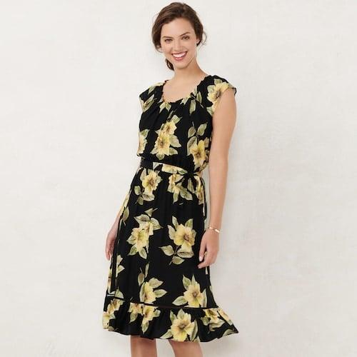 66c8718f028 LC Lauren Conrad Pleated Midi Dress