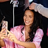 Adriana Lima Took a Bunch of Selfies
