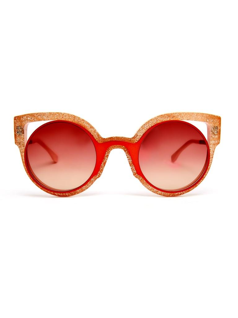 Fendi Glitter round-frame sunglasses ($406)
