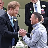 Prince Harry and Frankie Dettori, 2016