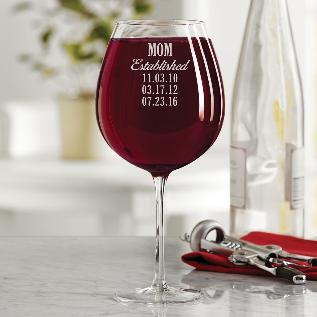 Mom Established Colossal Wine Glass