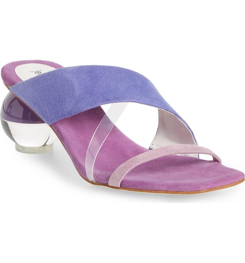 Jeffrey Campbell Laterall Ball Heel Slide Sandals