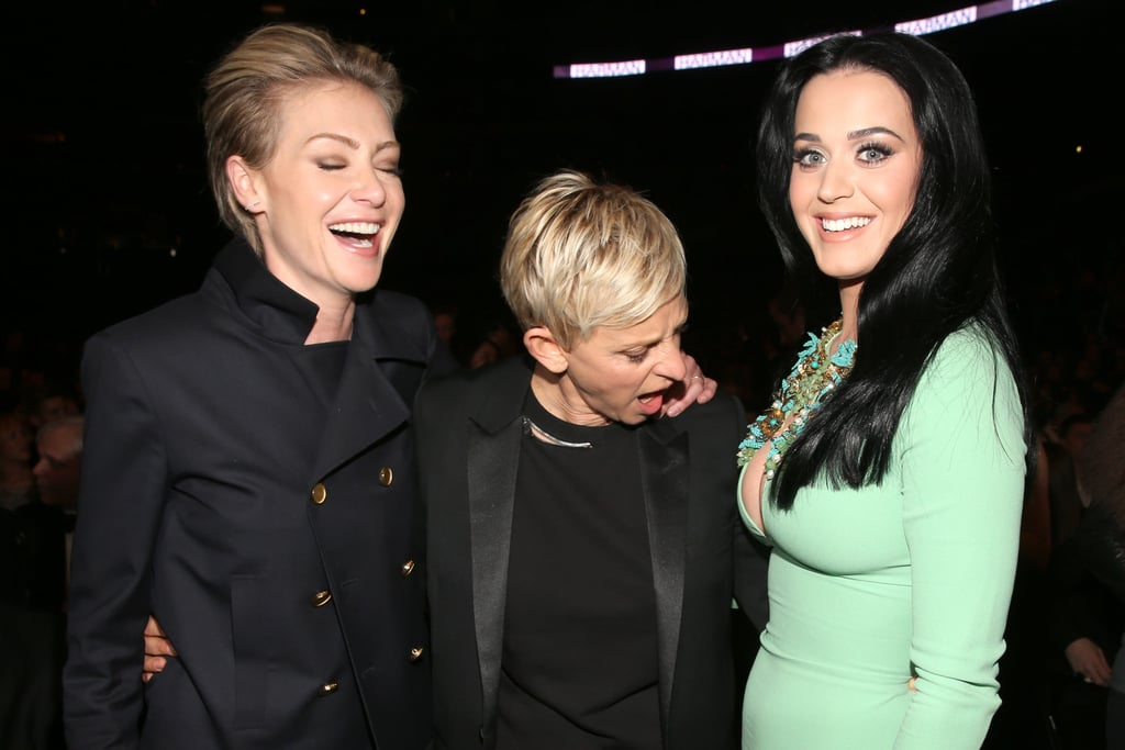 Portia de Rossi and Ellen DeGeneres checked out Katy Perry at the show in 2013.