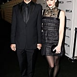 Gwen Stefani, with arm candy Gavin Rossdale, showed off her stems in an embellished Chanel mini.