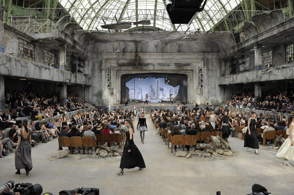 Like this futuristic landscape during the Fall 2013 Haute Couture show.