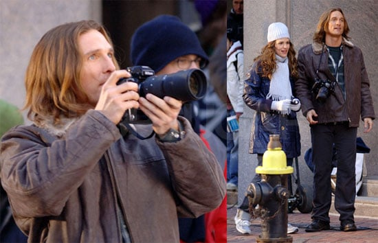 Matthew McConaughey and Jennifer Garner On The Set Of The Ghosts Of Girlfriends Past