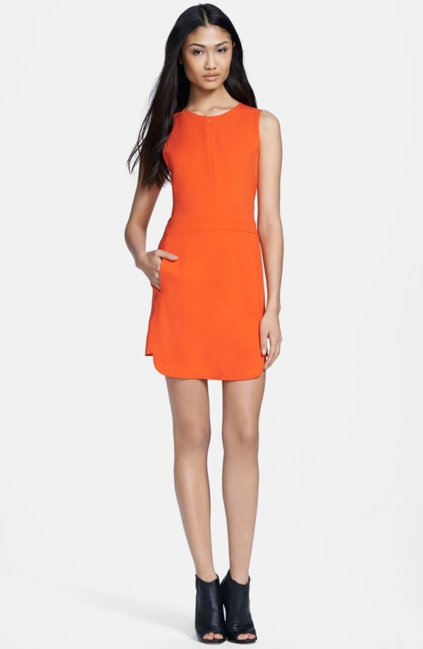 A.L.C. Ford Orange Crepe Tank Dress ($435)