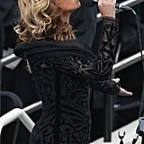 The stunning singer did not miss a beat during the presidential inauguration.