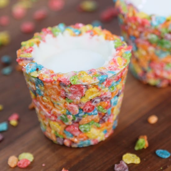 Fruity Pebbles Cereal Milk Shots