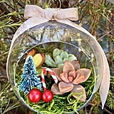 Etsy's Christmas-Themed Succulent Terrarium Ornaments