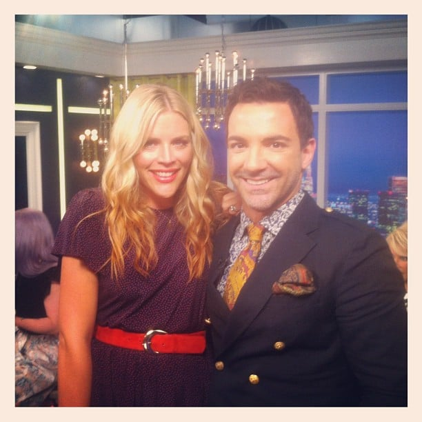 Busy Philipps stopped by the set of Fashion Police. Source: Instagram user georgekotsi